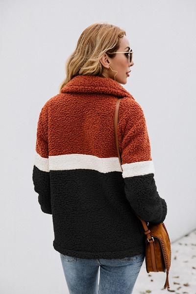 Daily Street Fashion Basic Two Toned Fur Coats_12