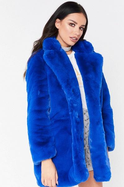 Winter Daily Regular Stand Long Faux Fur Coats_31