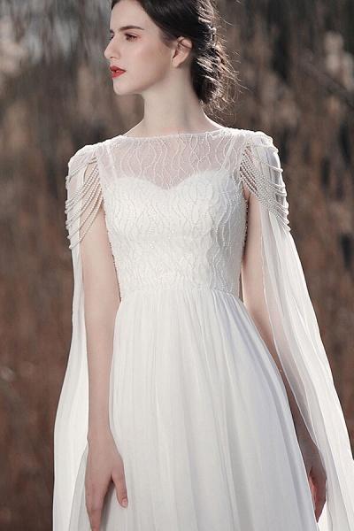 Eye-catching Beading Chiffon A-line Wedding Dress_8