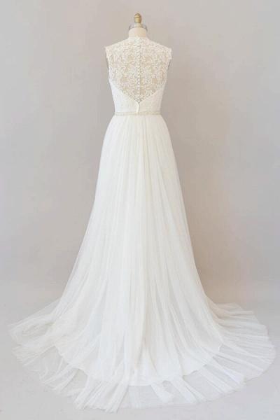 Amazing Beading Lace Tulle A-line Wedding Dress_3