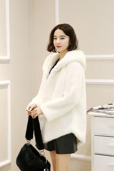 Hooded Daily Basic Club Faux Fur Coat_12