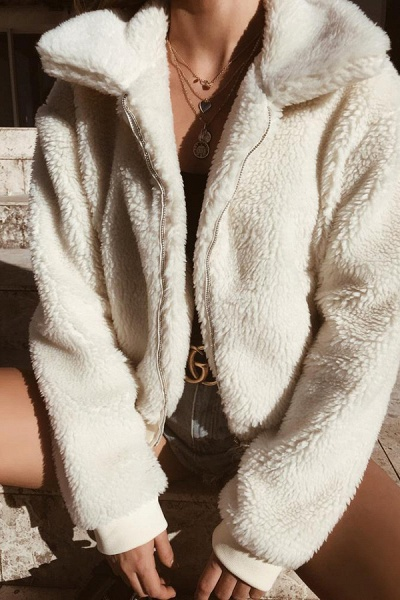 Daily Basic Fashion Winter Regular Faux Fur Coats_14