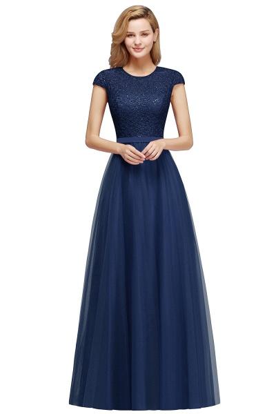 Graceful Jewel Tulle A-line Evening Dress_4