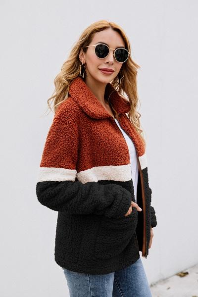 Daily Street Fashion Basic Two Toned Fur Coats_11