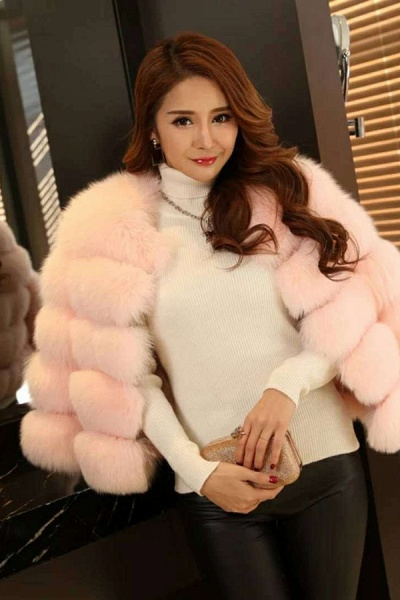 Women's Daily Party Long Faux Fur Coats_18