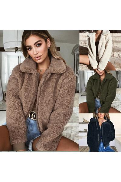 Daily Basic Fashion Winter Regular Faux Fur Coats_8
