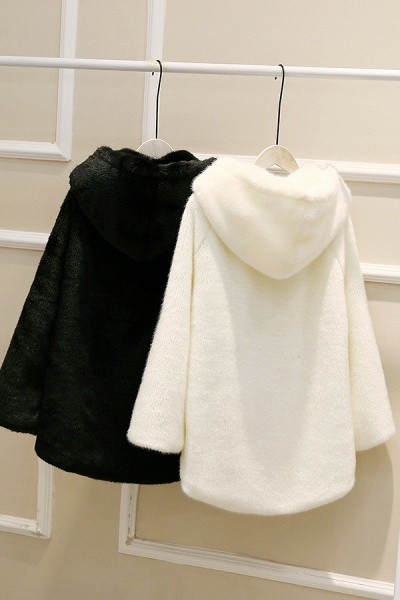 Hooded Daily Basic Club Faux Fur Coat_27