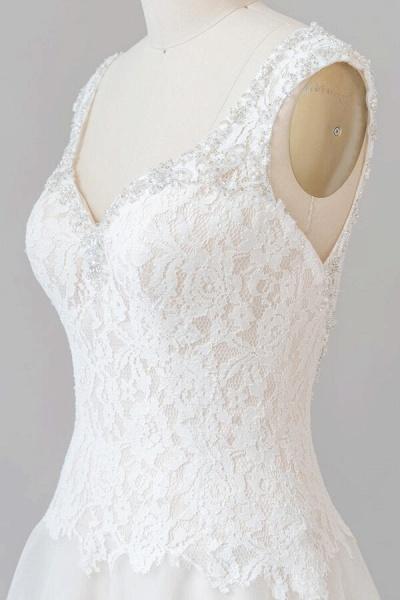 Elegant Open Back Lace Tulle A-line Wedding Dress_7