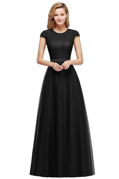 Graceful Jewel Tulle A-line Evening Dress_5