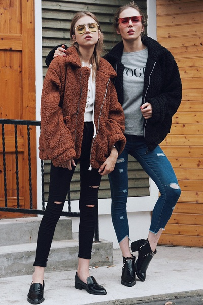 Winter Fashion Going out Basic Regular Faux Fur Coat_37