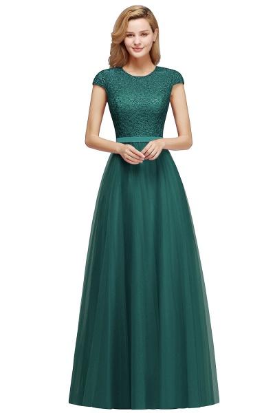 Graceful Jewel Tulle A-line Evening Dress_7