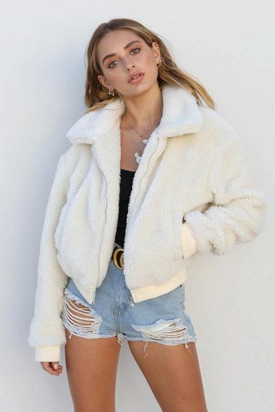 Daily Basic Fashion Winter Regular Faux Fur Coats_17