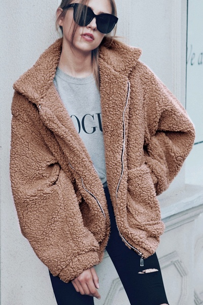 Winter Fashion Going out Basic Regular Faux Fur Coat_29