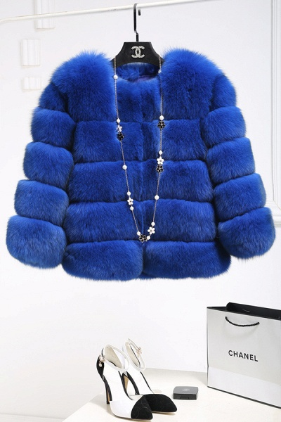 Women's Daily Party Long Faux Fur Coats_7