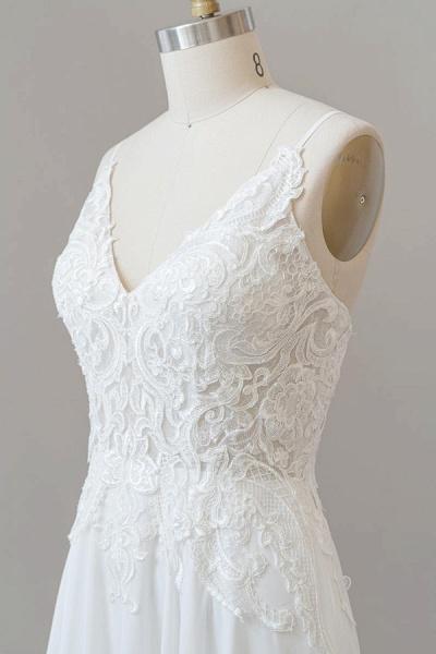 Spaghetti Strap Appliques Chiffon Wedding Dress_7