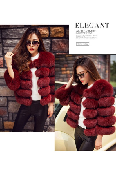 Women's Daily Party Long Faux Fur Coats_29