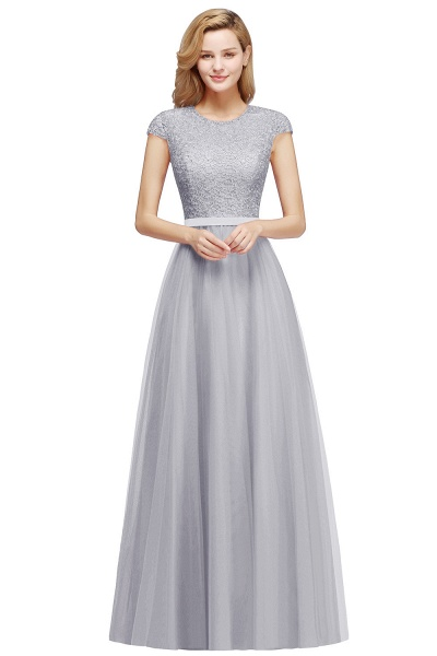 Graceful Jewel Tulle A-line Evening Dress_6