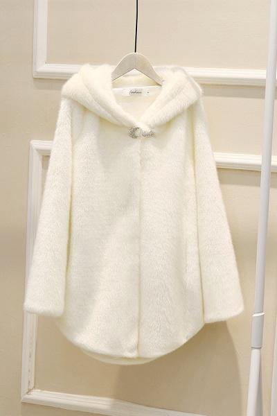 Hooded Daily Basic Club Faux Fur Coat_19