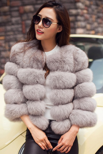 Women's Daily Party Long Faux Fur Coats_10