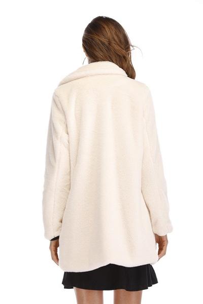 Winter Daily Regular Stand Long Faux Fur Coats_56