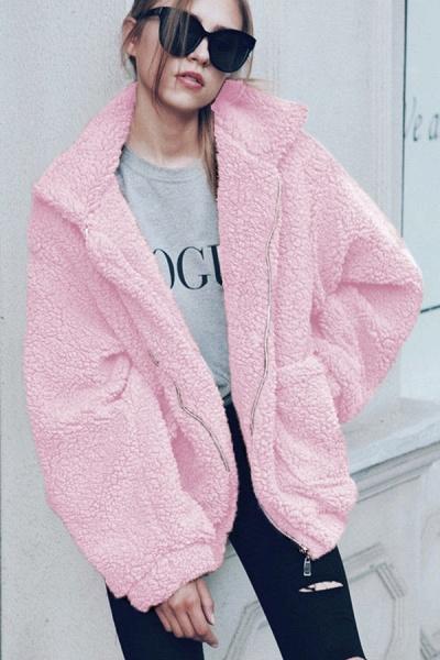 Daily Basic Fashion Winter Regular Faux Fur Coats_10