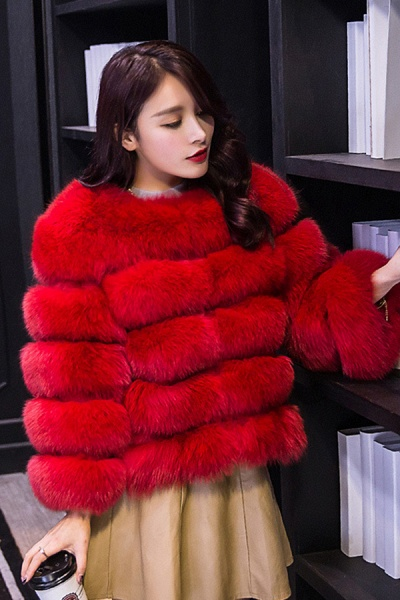 Women's Daily Party Long Faux Fur Coats_24