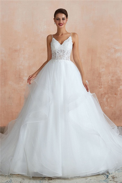 Glorious Appliques Tulle A-line Wedding Dress