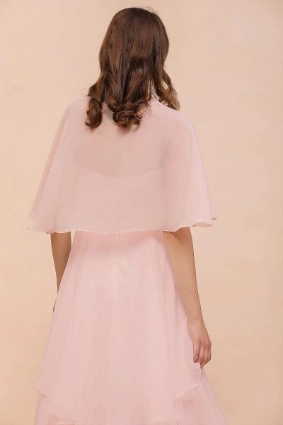 BM1086 Pink Ruffle Chiffon Special Occasions Wraps_7