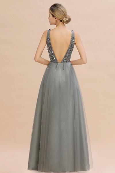 Fabulous V-neck Tulle A-line Prom Dress_14