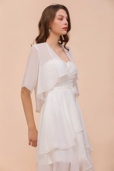 BM1061 White Short Sleeves Chiffon Special Occasions Wraps_7