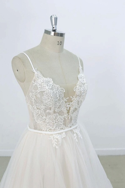 Eye-catching Appliques Tulle A-line Wedding Dress_6