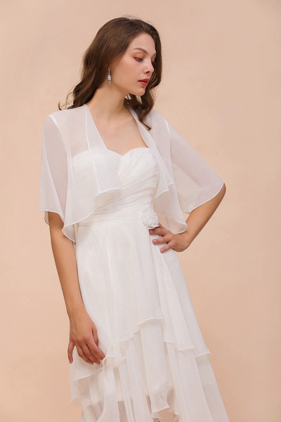 BM1061 White Short Sleeves Chiffon Special Occasions Wraps_8