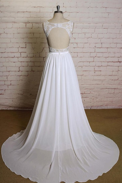 Sweetheart Lace Chiffon A-line Wedding Dress_3