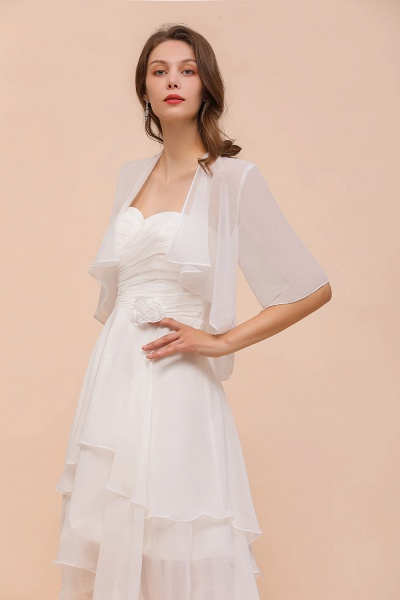 BM1061 White Short Sleeves Chiffon Special Occasions Wraps_4
