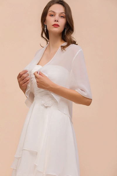 BM1061 White Short Sleeves Chiffon Special Occasions Wraps_6