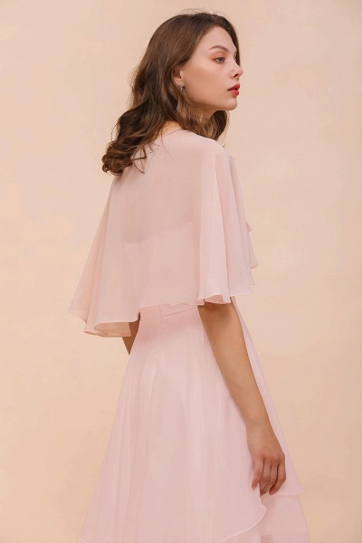 BM1086 Pink Ruffle Chiffon Special Occasions Wraps_3