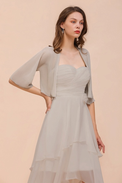 BM1083 Silver Half Sleeves Chiffon Special Occasions Wraps_4