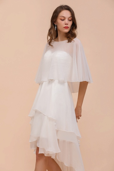 BM1077 Jewel White Chiffon Special Occasions Wraps_9