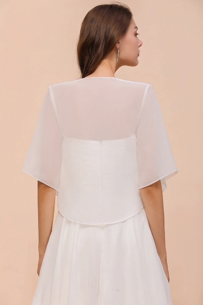 BM1061 White Short Sleeves Chiffon Special Occasions Wraps_3