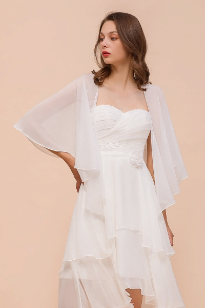 BM1078 Chiffon White Special Occasions Wraps