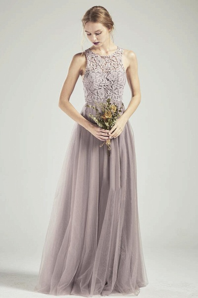 Awesome Lace-up Lace Tulle A-line Wedding Dress_1