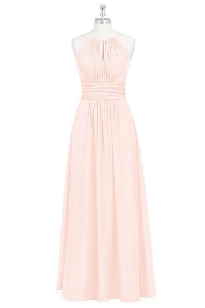 Keyhole Spaghetti Strap Chiffon Bridesmaid Dress