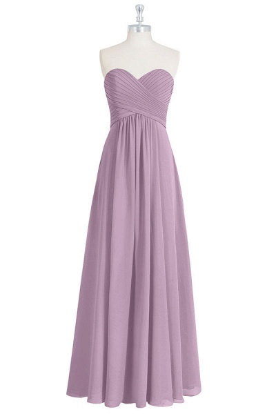 Ruffle Sweetheart Chiffon A-line Bridesmaid Dress