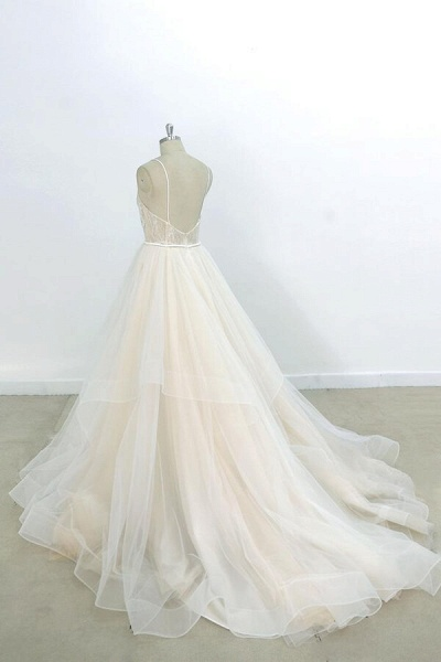 Eye-catching Appliques Tulle A-line Wedding Dress_3
