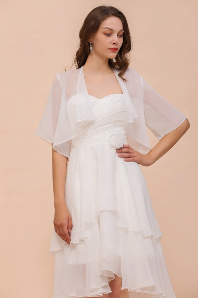 BM1061 White Short Sleeves Chiffon Special Occasions Wraps_5