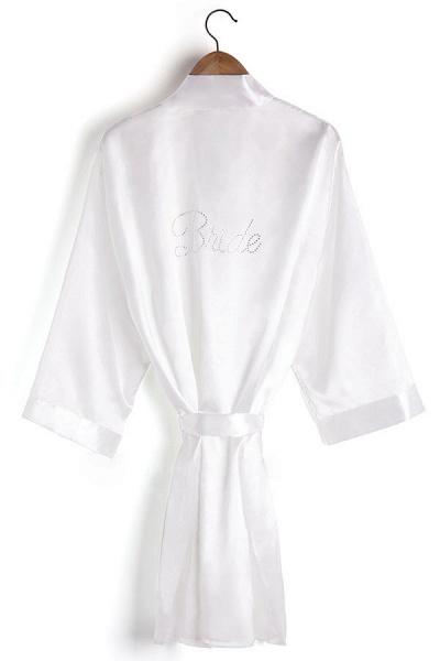 Personalized Rhinestone Bridesmaid & Bridal Robes_1