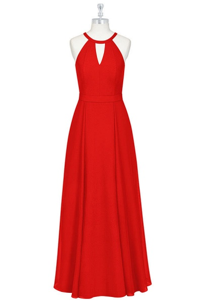 Elegant Keyhole Chiffon A-line Bridesmaid Dress