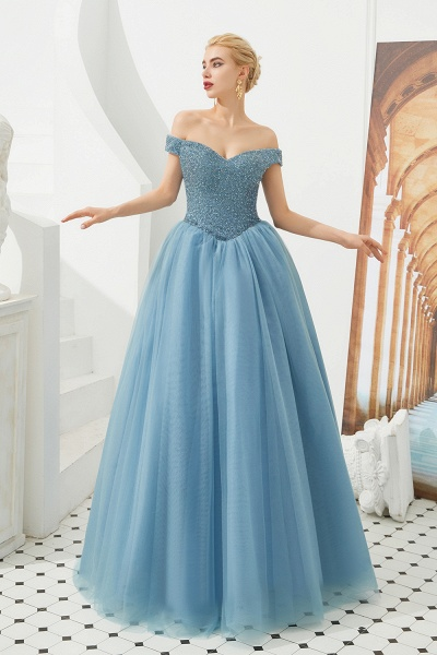 Glorious Off-the-shoulder Tulle A-line Prom Dress_14