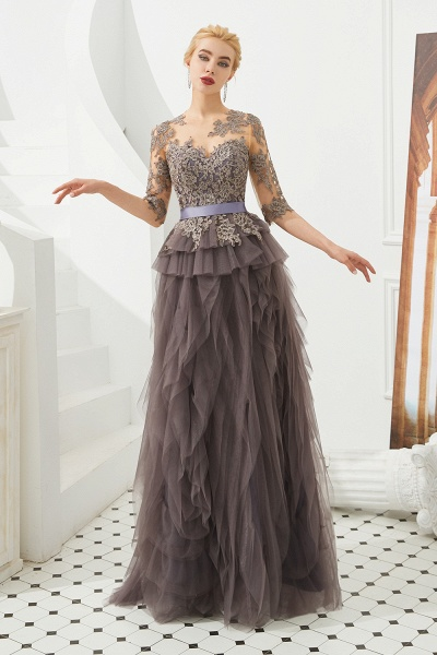 Fabulous Jewel Tulle Ball Gown Prom Dress_5