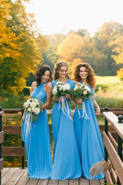 Convertible Blue Long Bridesmaid Dresses | Sexy Maid of Honor Dresses_11